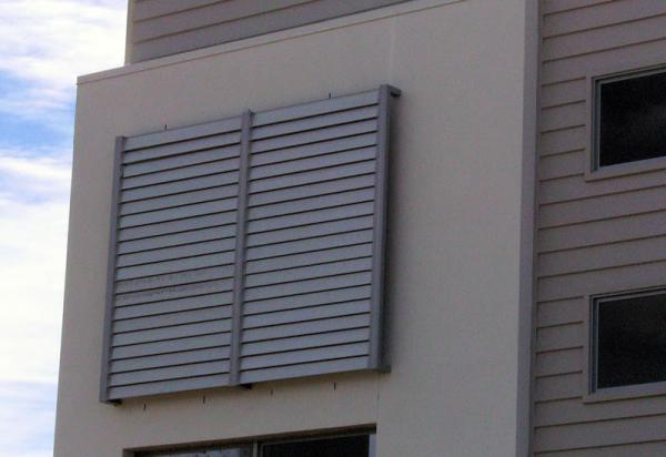 What is external fixed aluminium louvres?